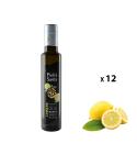 Paquet de 12 bouteilles d'assaisonnement à l'huile d'olive extra vierge et citron de 0,25 Litre