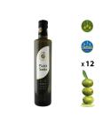 Paquet de 12 bouteilles de huile d'olive extra vierge de 0,50 Litre