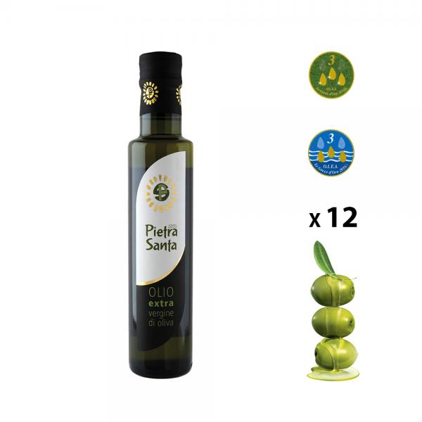 Confezione da 12 bottiglie Olio extravergine di oliva da 0,25 Litri