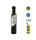 Paquet de 12 bouteilles d'huile d'olive extra vierge de 0,25 Litres