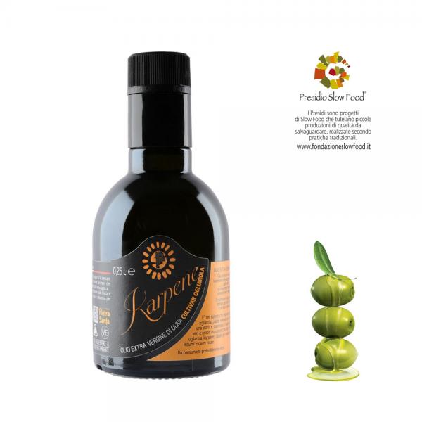 Olio extravergine di oliva ogliarola Karpene - bottiglia 0,25 Litro