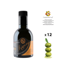 Box mit 12 Flaschen von nativem Olivenöl extra Ogliarola Karpene 0,25 Liter