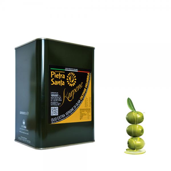 Olio extravergine di oliva ogliarola Karpene - bottiglia 0,5 Litro