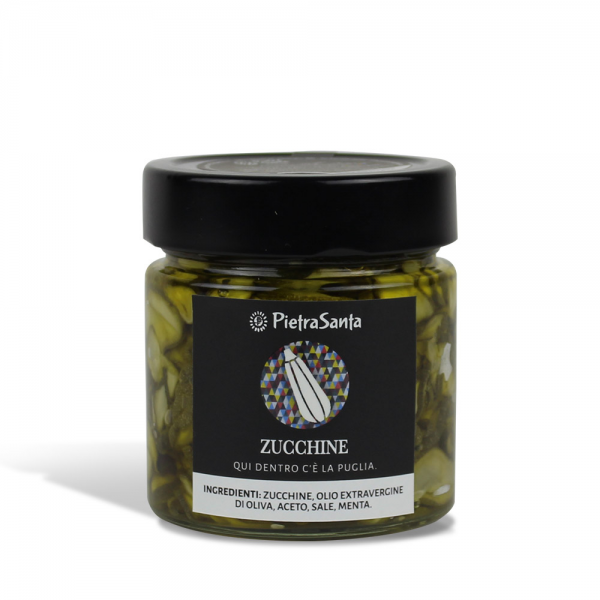 Courgettes in oil
