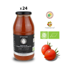 Pack of 24 jars of Biological Fiaschetto tomato purèe from Torre Guaceto