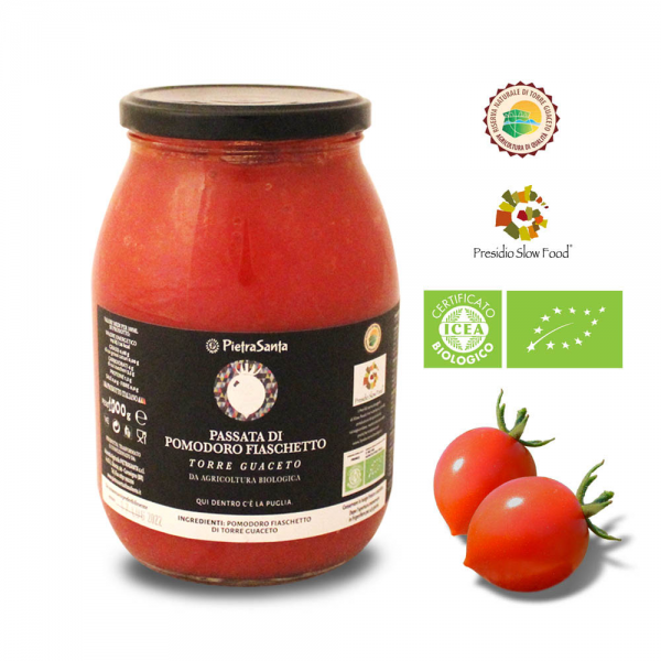 Biological Fiaschetto tomato purée from Torre Guaceto 1kg