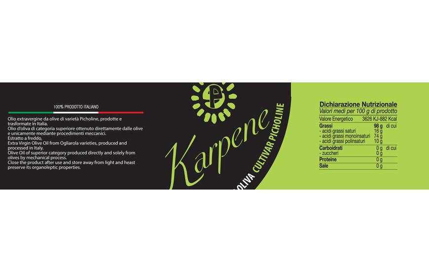 Picholine Karpene Extra Virgin Olive oil