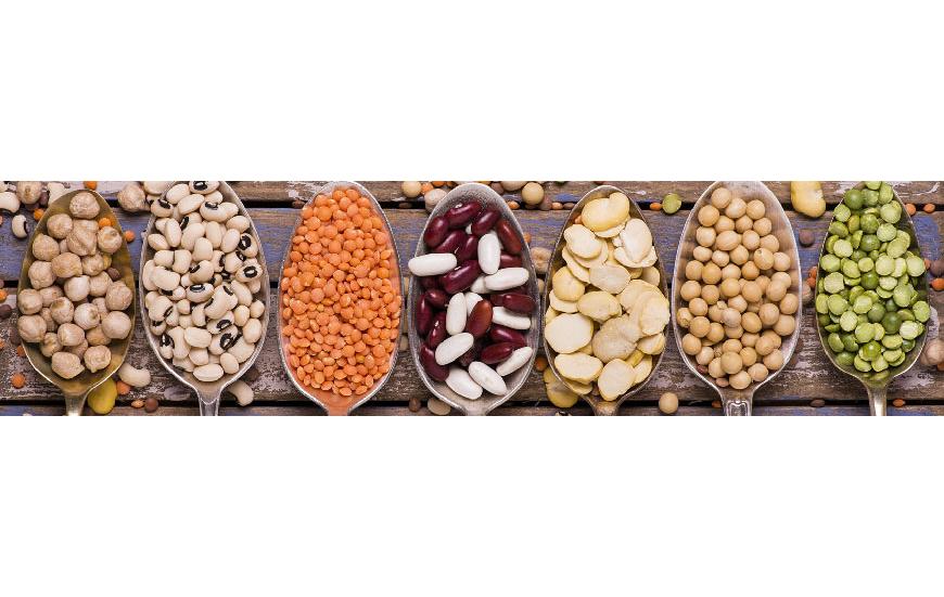 Hülsenfrüchte und trockenobst