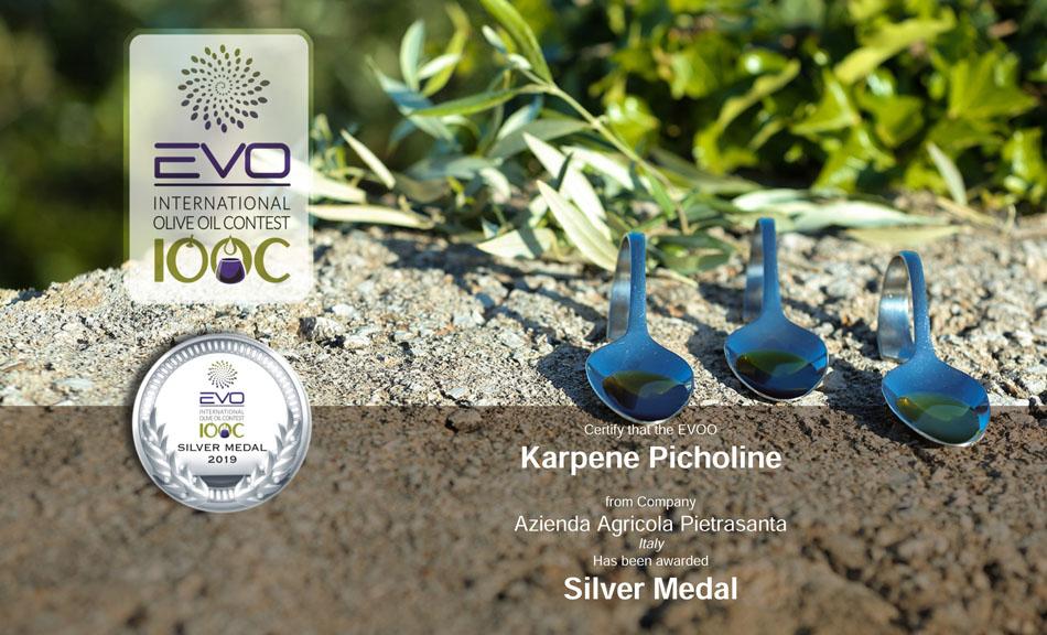 Medaglia d'argento per il nostro OEVO Picholine Karpene